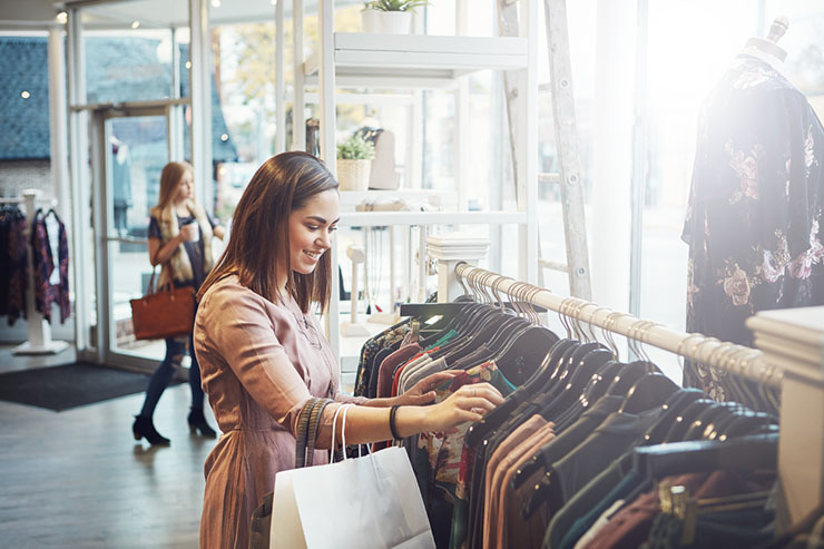 Bekende winkel in mode huurt airco